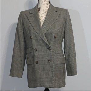 Ralph Lauren wool jacket/ blazer petite plaid